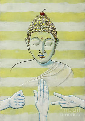 Buddha Painting - A Meditation On Chance by Andrea Benson