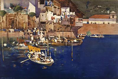 Mediterranean Village Painting - A Mediterranean Port by Arthur Melville