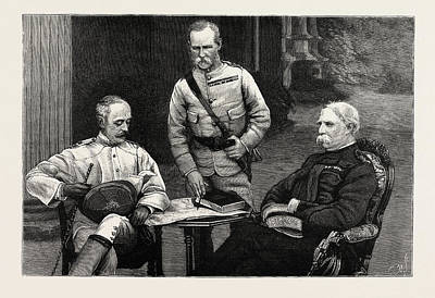 A Meeting Of The Commanders-in-chief Of The Army In India Art Print by Indian School