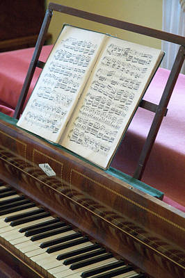 Sheet Music Photograph - A Mendelssohn Composition On Piano by Dave Bartruff
