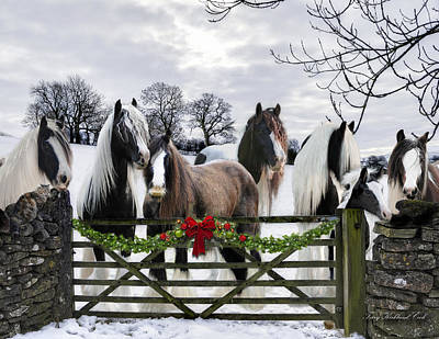 Gypsy Horse Digital Art - A Merry Gypsy Christmas by Terry Kirkland Cook