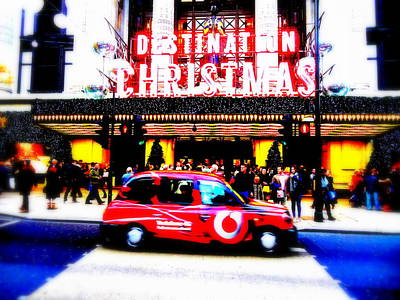 Photograph - A Merry Selfridges Christmas In London  by Funkpix Photo Hunter