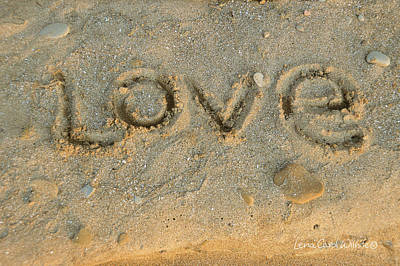 Photograph - A Message In The Sand by Lena Wilhite
