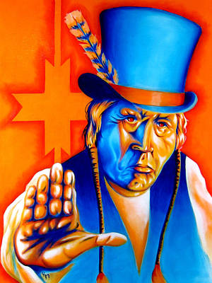 Chicano Painting - A Message by Robert Martinez