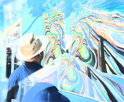 San Diego Artist Digital Art - A Michael Rosenblatt Moment As He Paints by Carolina Liechtenstein