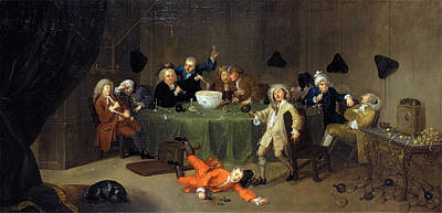 Hogarth Painting - A Midnight Modern Conversation Signed And Dated by Litz Collection