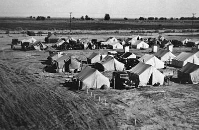 A Migratory Workers Camp Art Print by Underwood Archives