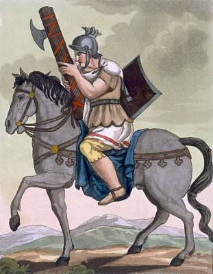 Rome Drawing - A Military Lictor Of The Cavalry by Jacques Grasset de Saint-Sauveur