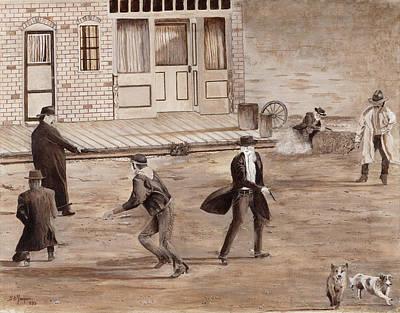 Painting - A Minor Misunderstanding Tombstone Az by Stuart B Yaeger