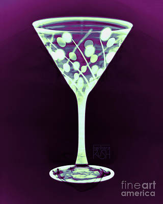Photograph - A Mint Martini On Plum by Barbara Rush