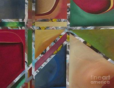 Art Print featuring the painting A Mystery Behind by Nereida Rodriguez