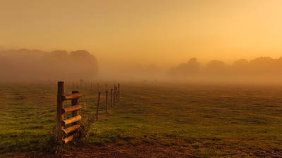 Hamptons Photograph - A Misty Sunrise by Chris Fletcher