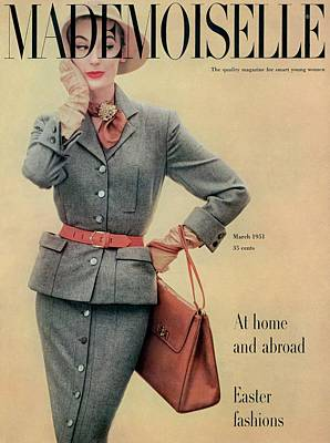 Gray Suit Photograph - A Model In A Flannel Suit By Joselli by Herman Landshoff
