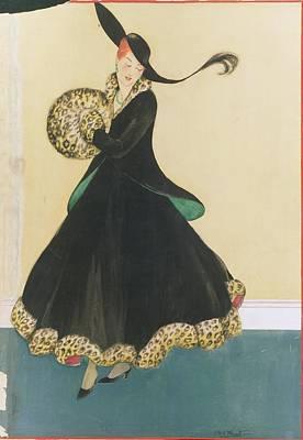 A Model In A Two Piece Suit Art Print by E.M.A. Steinmetz
