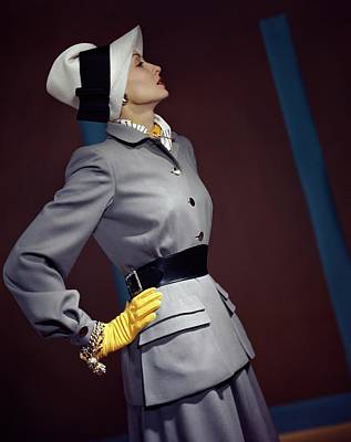 A Model In A Vogue Couturier Suit Art Print by Horst P. Horst