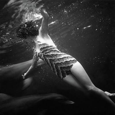 Bathing Suit Photograph - A Model Wearing A Best Bathing Suit by Toni Frissell