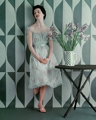 A Model Wearing A Carter Dress Art Print