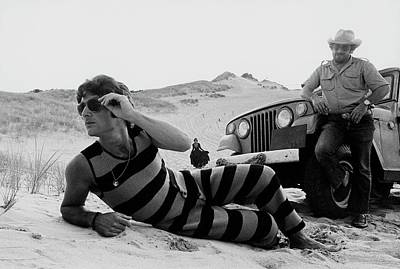 A Model Wearing A Drummond Tank-suit Art Print