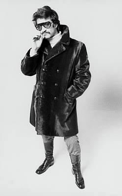 A Model Wearing A Fur Coat Art Print by Peter Levy