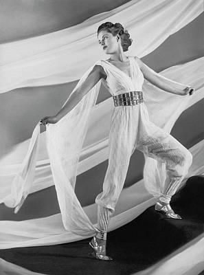 Photograph - A Model Wearing A George Sakier Pantsuit by Anton Bruehl