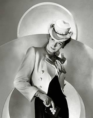 A Model Wearing A Jacket And Hat Art Print