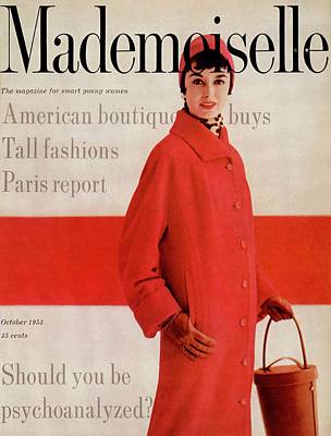 A Model Wearing A Jaunty Junior Overcoat Art Print