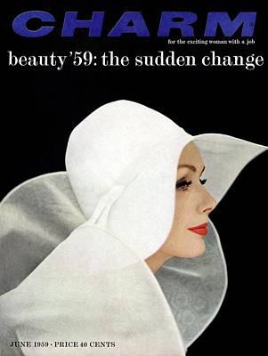 Photograph - A Model Wearing A John Frederics Charmer Hat by Carmen Schiavone
