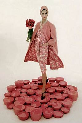 Full Length Photograph - A Model Wearing A Matching Pink Outfit Holding by William Bell