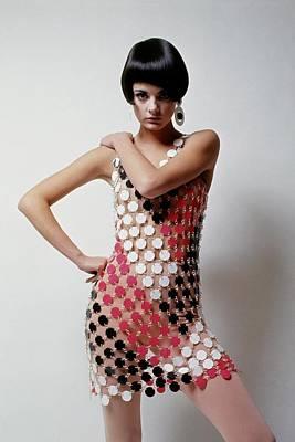 Looking At Camera Photograph - A Model Wearing A Mini Dress by David Mccabe