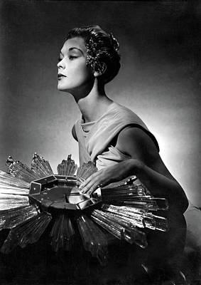 A Model Wearing A Schiaparelli Dress Art Print by Horst P. Horst