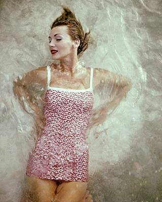 1950s Fashion Photograph - A Model Wearing A Swimsuit by Leombruno-Bodi