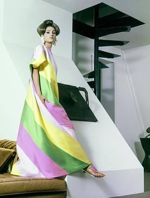 A Model Wearing A Yellow Art Print