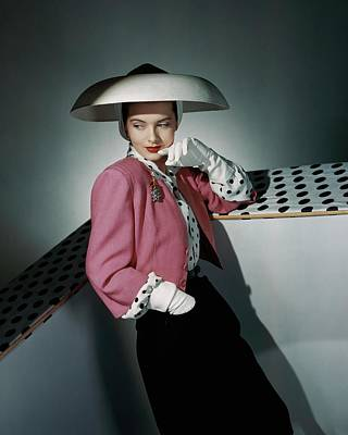 White Gloves Photograph - A Model Wearing Arnold Constable And Carolyn by Horst P. Horst