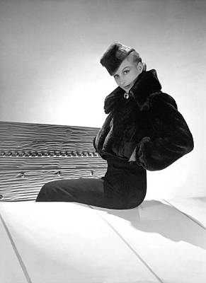Photograph - A Model Wearing Chanel And Boucheron by Horst P. Horst