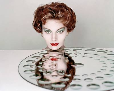 Photograph - A Model Wearing Clairol Hair Dye by Richard Rutledge