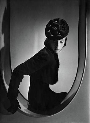 Photograph - A Model Wearing Clothing By Schiaparelli by Horst P. Horst