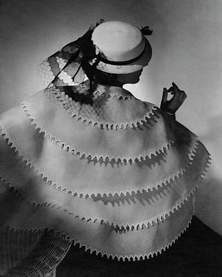A Model Wearing Lanvin Art Print by Horst P. Horst
