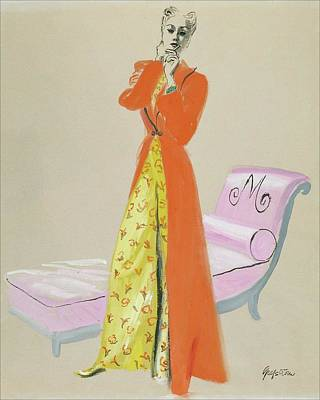 A Model Wearing Pajamas Art Print by R.S. Grafstrom