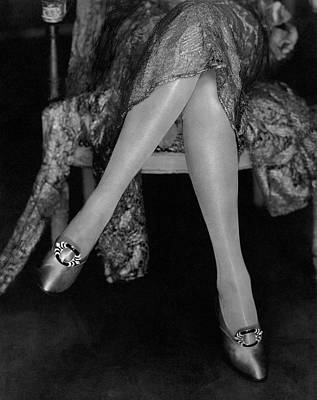 Enamel Photograph - A Model Wearing Satin Shoes by Edward Steichen