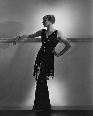 Full Skirt Photograph - A Model Wearing Schiaparelli by Horst P. Horst