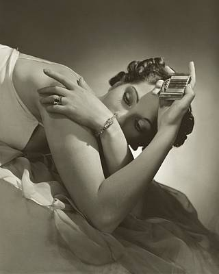 Diamond Bracelet Photograph - A Model Wearing Tiffany And Co Jewelry by Horst P. Horst