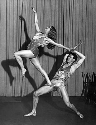 Modern Dance Photograph - A Modern Dance Team by Underwood Archives