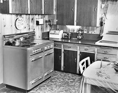 A Modern Kitchen Art Print by Underwood Archives