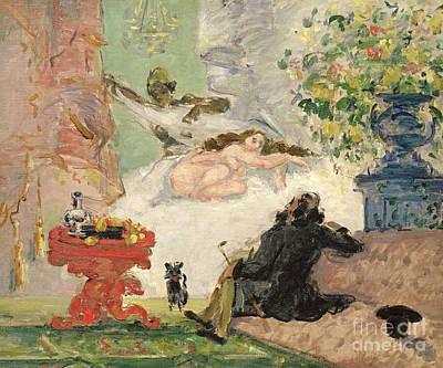 A Modern Olympia Art Print by Paul Cezanne