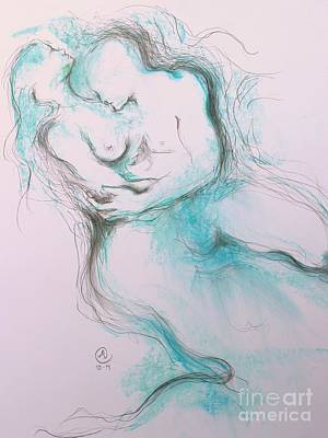 Drawing - A Moment by Marat Essex