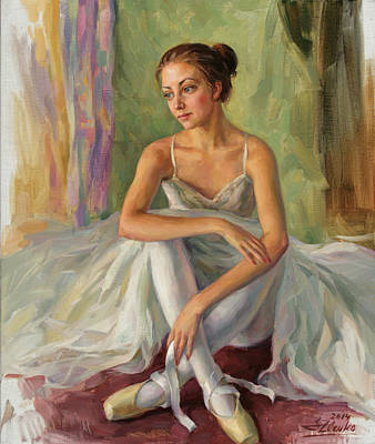 Painting - A Moment Of Relaxation by Serguei Zlenko