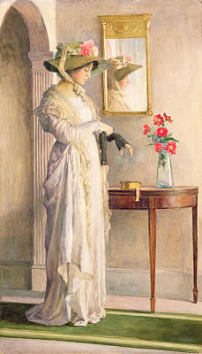 Mirror Painting - A Moment's Reflection by William Henry Margetson