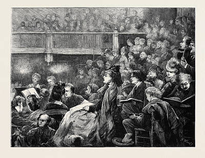 Popular Culture Drawing - A Monday Popular Concert by English School