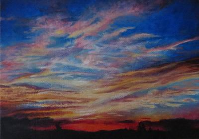 Bozeman Painting - A Montana Sunset 1 by Tara Aguilar