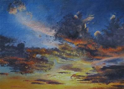 Bozeman Painting - A Montana Sunset 2 by Tara Aguilar